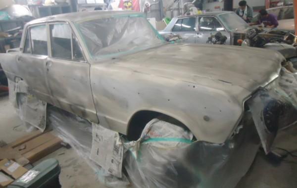 プリンス スカイラインの塗装剥離
